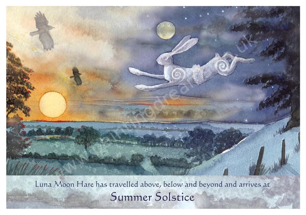 Luna moon hare at summer solstice greetings card painting dreams luna moon hare at summer solstice greetings card m4hsunfo
