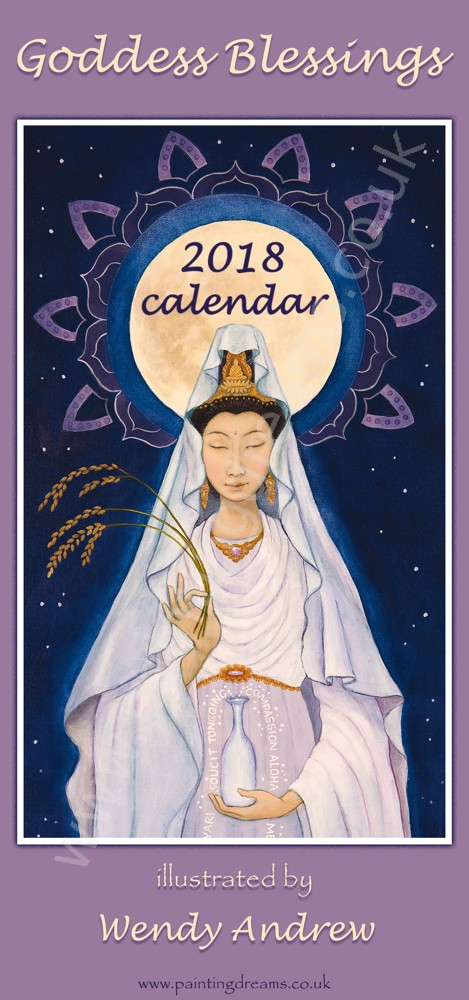 goddess blessings 2018 calendar