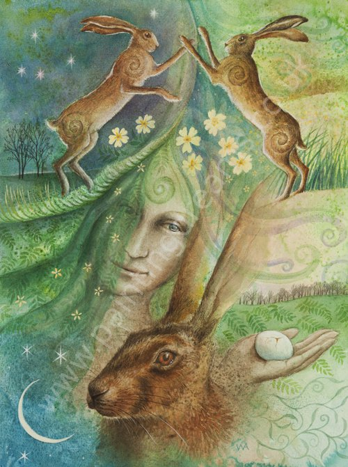 Eostre And The Hare S Egg Painting Dreams