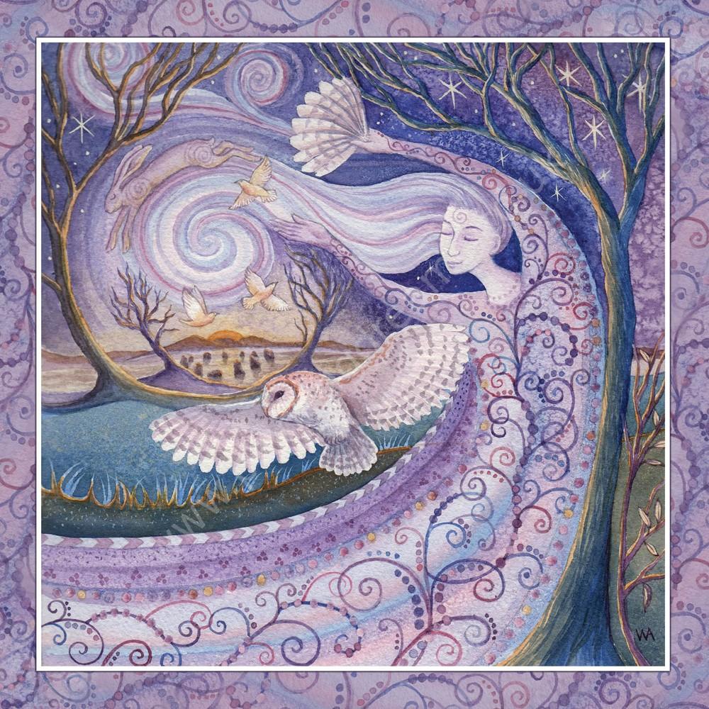Winter solstice greetings card painting dreams winter solstice greetings card m4hsunfo