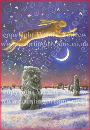 Winter solstice magick greetings card painting dreams winter solstice magick greetings card m4hsunfo